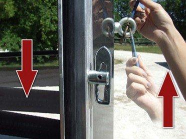 barre de portail de sécurité avec boucle de sécurité extérieure