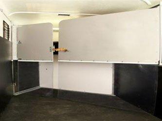 Séparation(s) de corps souple en 2 parties, démontables, réglables, coulissantes et autobloquantes.