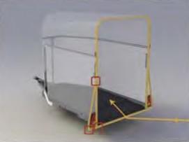 Anneau de sécurité unique qui évite les déformations entre le toit et les côtés du van