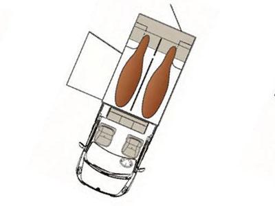 Camion VL version 3 : CABINE APPROFONDIE 5 places